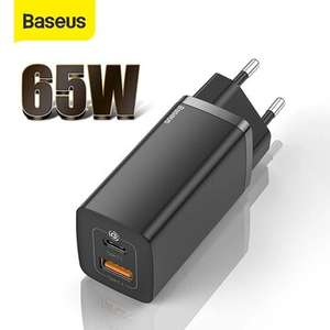 Baseus GaN2 65W USB C / USB B dual port oplader voor €21,74 incl. verzending uit CZ @ BangGood