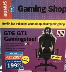 GTG GT1 Gamingstoel Zwart / Blauw