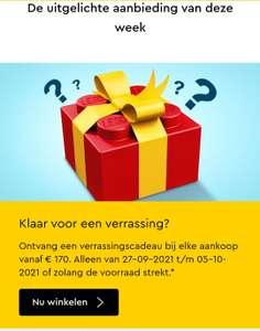 Lego verrassingscadeau bij aankoop vanaf €170