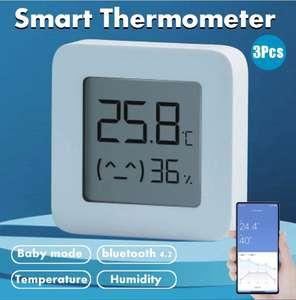 3 stk Xiaomi Mijia smart Bluetooth Thermometer 2 Wireless Electric Hygrometer app