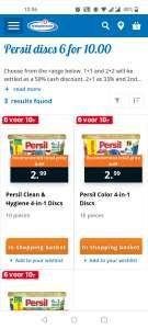 Persil Discs: 6 voor 10 euro