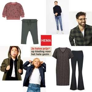 Alle kleding 2e halve prijs @ HEMA