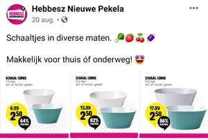 [Lokaal] Mepal Schalen etc. voor €1,25 @Hebbesz Nieuwe Pekela
