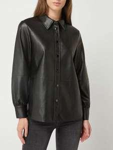 Opus blouse in leerlook