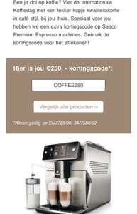 €150 of €250 korting op Philips Xelsis-espressomachine