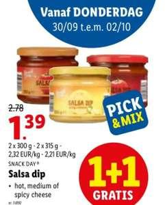 [GRENSDEAL BELGIË] Lidl salsa dip 1+1 gratis