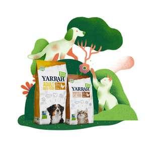20% korting op biologische dierenvoeding van Yarrah
