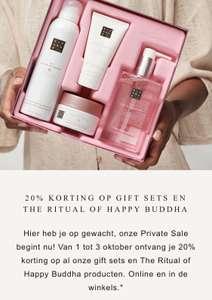 Rituals sale: 20% korting, ook op giftsets