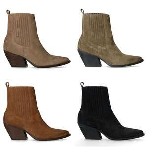Suède western dames boots -60% | 4 kleuren [waren €119,99]