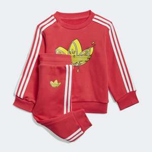 adidas Trefoil graphic baby tracksuit [was €45]