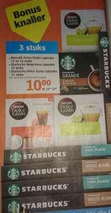 Verschillende Nescafé en Starbucks capsules 3 voor €10 bij Albert Heijn