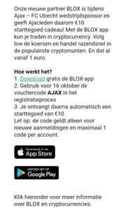 Gratis €10 crypto tegoed @BLOX