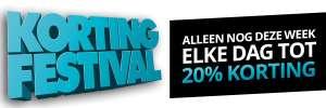 20% korting op wasmachines (2 en 3 oktober)