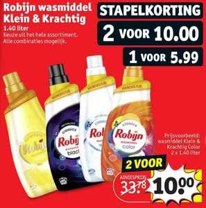 Robijn Klein & Krachtig wasmiddel - 2 voor €10 of 1 voor €5,99 @Kruidvat