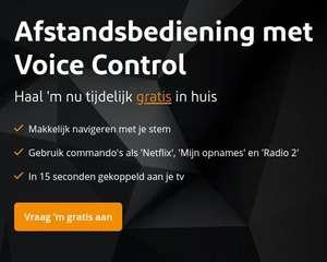 Gratis afstandsbediening met voice control bij Ziggo