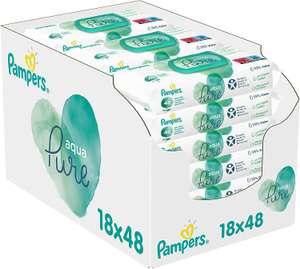 Pampers Aqua Pure Billendoekjes, 864 Babydoekjes