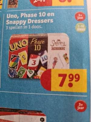 Uno, phase10 en snappy dressers