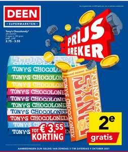 Deen Supermarkt: Alle Tony Chocolonely repen de 2e gratis