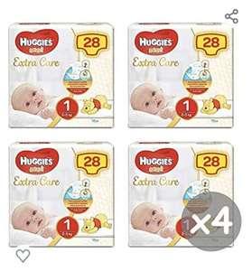 Huggies Bebè Maat 1 4x28stuks (2-5kg)