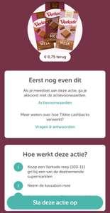 Verkade Reep voor €0,24 bij Dirk (Tikkie cashback)