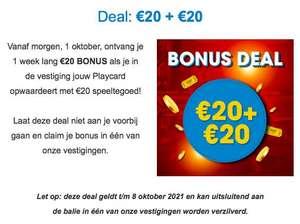Sir Winston Fun & Games: 20 euro + 20 euro bonus bij opwaarderen