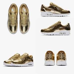 Nike Air Max 90 SP metallic gold sneakers
