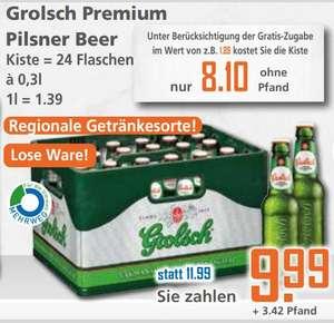 [Grensdeal DE] Krat Grolsch 24x0,3L + zak chips 150-175gr voor €9,51 bij K+K