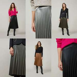 Summum Woman Plisse skirt fake leather [ in 4 kleuren - vanaf €20,99 ]