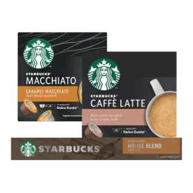 Jumbo - alleen online - Starbucks Nespresso of Dolce Gusto 3+1 gratis