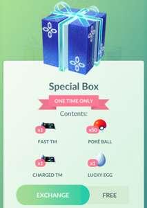 Gratis Special Box in de Pokemon GO Shop! (in-game)