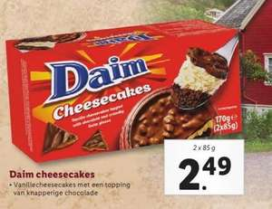 Daim Cheesecakes €2,49 bij Lidl