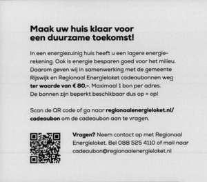 Gratis cadeaubon ter waarde van €80 voor inwoners van gemeente Rijswijk