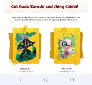 Claim Shiny Celebi & Dada Zarude in Pokemon Sword and Shield