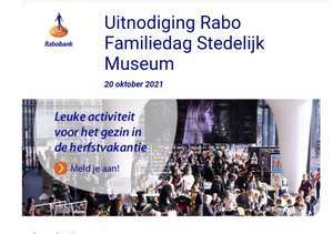RABO FAMILIEDAG 2021 in het Stedelijk Museum