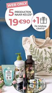 Yves Rocher - 5 producten voor €19,90 + gratis canvas tas