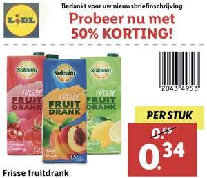 50% korting op Solevita Frisse Fruitdrank @ Lidl