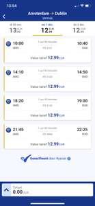 Vliegtickets RyanAir Amsterdam-Dublin €12,99 enkel €25,98 retour!