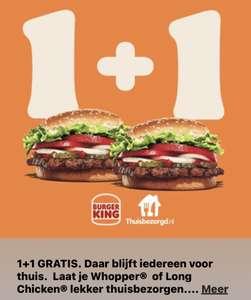 2e Whopper of Long Chicken gratis @ Thuisbezorgd.NL