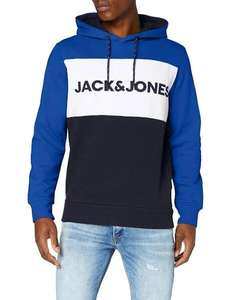 JACK & JONES JJELOGO BLOCKING SWEAT HOOD STS Claasic Blue