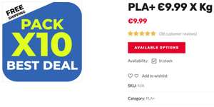 PLA+ Filament 1.75mm, voor € 9,99 (bij 10 x 1Kg.) bij gst3d.eu