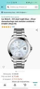 Ice-Watch - ICE steel Light blue - Zilver dameshorloge met metalen armband