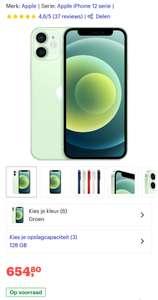 Iphone 12 mini groen 128gb