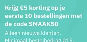Totaal €50 korting op je eerste 10 bestellingen @ Deliveroo