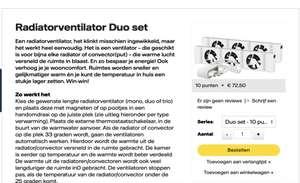 Speedcomfort radiator ventilators Mono Duo of Trio sets of een uitbreiding