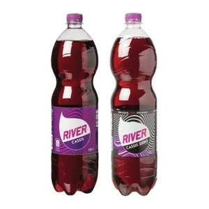 6 liter River cola (regular/zero/light) of cassis (regular/zero) voor €1 @ Die Grenze