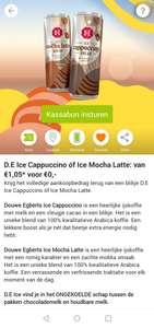 Douwe egberts ijskoffie gratis via Scoupy