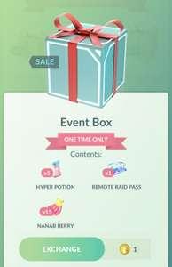 Pokémon Go Event box voor 1 coin