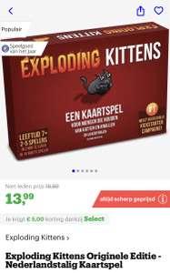 [bol.com select deals] Exploding Kittens Originele Editie - Nederlandstalig Kaartspel €13,99 (zie omschrijving voor meer)