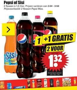 2 flessen Pepsi of Sisi 1.5 liter fles (1 + 1 gratis)