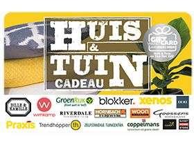Huis & Tuin €10 cadeaukaart Te gebruiken bij onder andere Hornbach en Blokker@Vattenfall voor 250 punten